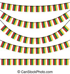 garlands with lithuanian national colors - different...