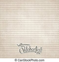 vintage background with checkered pattern for Oktoberfest...