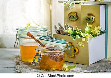 Healing linden honey
