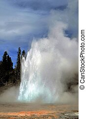 Grand Geyser in Yellowstone National Park.