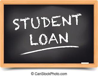 Blackboard Student Loan - detailed illustration of a...