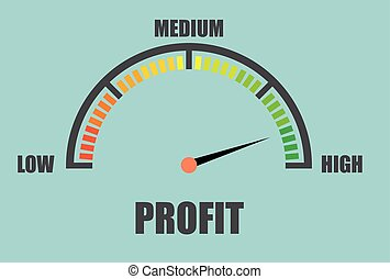 minimalistic Profit Meter - detailed illustration of a...