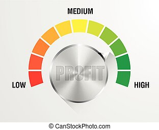 Profit Meter Illustration - detailed illustration of a...