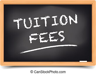 Blackboard Tuition Fees - detailed illustration of a...