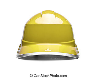 Red safety helmet on a white background