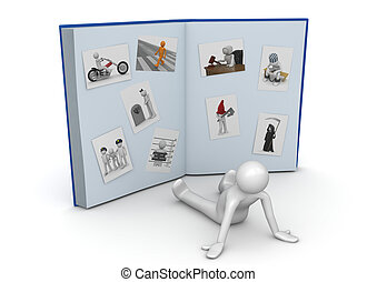 Huge photo album - Lifestyle collection - 3d characters...