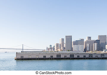 The Embarcadero - View of the coast of San Fransisco with...
