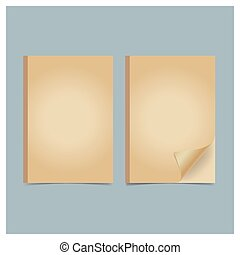 Old papers, ready for your message. Vector illustration.