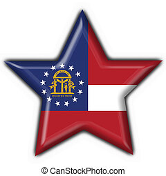 Georgia (USA State) button flag star shape - 3d made