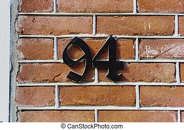 number 94 - House number ninety four 94