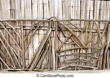 Bamboo Wall - Ecological Man Made Structure - Traditional...
