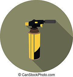 flat icon gas torch for soldering in vector format eps10