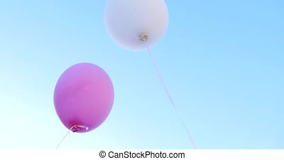 Colorful balloons with blue sky multicolored balloons.