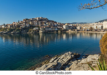 Old town of Kavala - Amazing Panorama of Old town of Kavala,...