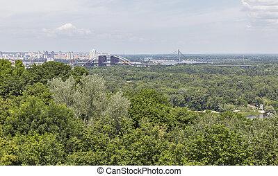 Kiev cityscape aerial view, Ukraine - Kiev cityscape aerial...