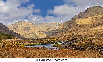 scenic nature landscape famous connemara protected landscape...