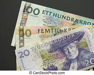 Swedish Krona (SEK) notes, currency of Sweden (SE) - Swedish...