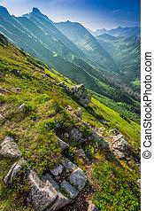 Beautiful dawn in the Tatras mountains