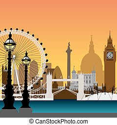 London Cityscape - A Vector Cityscape of London