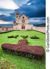 Basilica in Assisi, Umbria, Italy