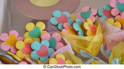 Sugar cookies shaped like flowers