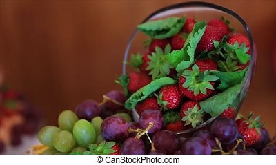 Collection of berries grapes strawberries blueberries berry.