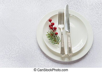 Beautiful Christmas table - Christmas table in tones of...