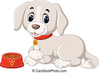 cute dog - illustration of cute dog cartoon