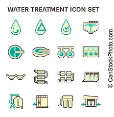 Water treatment icon - Water treatment vector icon sets...