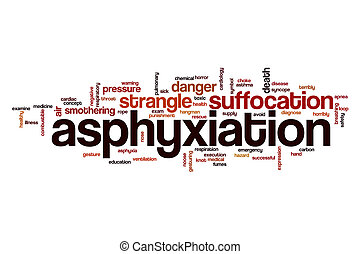 Asphyxiation, palabra, nube, concepto