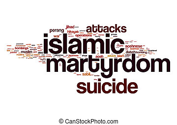 Islamic martyrdom word cloud concept - Islamic martyrdom...