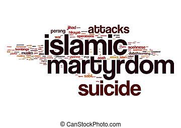 Islamic martyrdom word cloud concept - Islamic martyrdom...