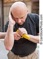 Gun Disarm Self defense techniques against a gun point -...