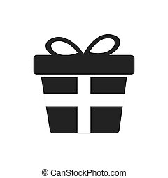 gift present bowtie silhouette icon Vector graphic - gift...