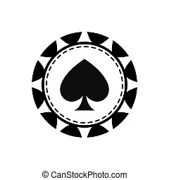 chip casino las vegas game lucky icon. Vector graphic - chip...
