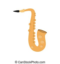 saxophone instrument music sound icon. Vector graphic