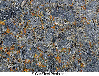 Stone texture - Texture of gray stone with rust-colored...