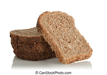 sliced bread, wholemeal, with seeds