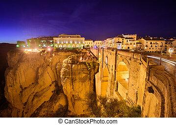 Ronda, Spain Old Town - Ronda, Spain at Puente Nuevo Bridge...