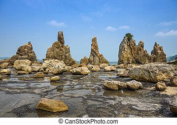 Kushimoto, Japan Rocky Coastline - Kushimoto, Wakayama...