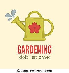 Garden center emblem or label, badge, logo designed element....