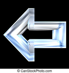 arrow symbol in glass - 3D