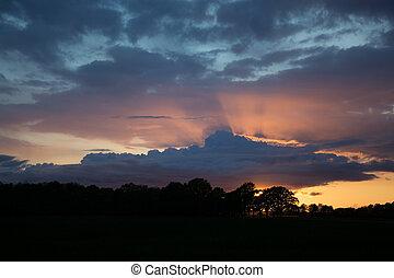 Sunsat at Ruegen, Germany - Sunset at the island Ruegen,...