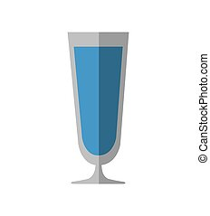 cocktail drink alcohol glass beverage icon. Vector graphic