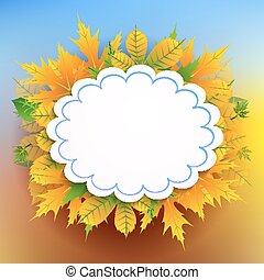Autumn background with frame for text