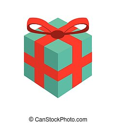 gift bowtie merry christmas icon Vector graphic - gift...