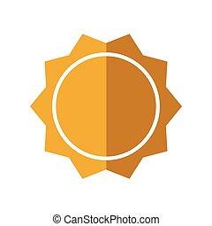 sunny sun abstract sunshine icon. Vector graphic