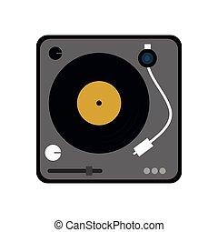 vinyl machine music sound dj icon. Vector graphic