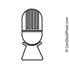 microphone music sound dj icon. Vector graphic
