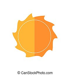 sunny sun abstract sunshine icon. Vector graphic